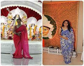 बिना मेकअप दुर्गा मां का आर्शीवाद लेने पहुंची काजोल, ...