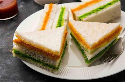ट्राई कलर सैंडविच से करें गणतंत्र दिवस का स्वागत