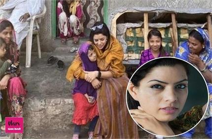 एक्टिंग के साथ-साथ समाज सेवा कर रही राजश्री, बदल रही गांवों की तस्वीर