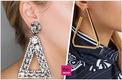 वेस्टर्न ड्रेस के साथ खूब फबेंगे ये Triangle Oversized Earrings