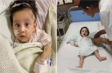 अजीबो गरीब बीमारी से जूझ रही 5 महीने की बच्ची, करोड़ों में है इसके एक...