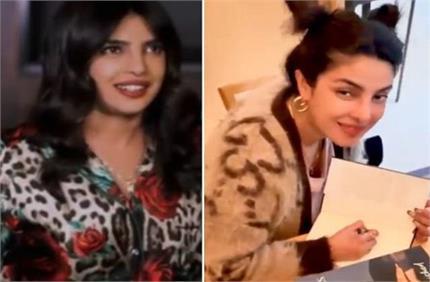 चर्चा में प्रियंका की Rose Print ड्रेस और स्वेटर, कीमत ने उड़ाए सबके...