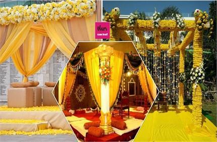 बसंत के शुभ दिन पर हो रही है शादी तो यहां से लें मंडप को यैलो लुक...