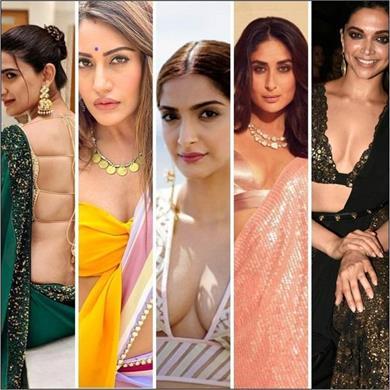actresses latest blouse design