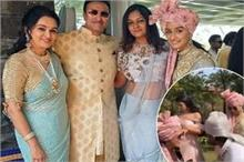 पद्मिनी कोल्हापुरी के बेटे की शादी में जमकर नाचीं श्रद्धा,...
