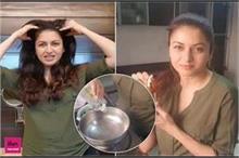 झड़ते बालों के लिए ट्राई करें भाग्यश्री का DIY Hair Oil,...