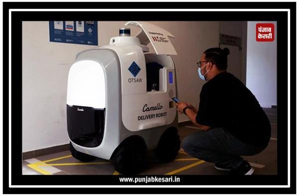 सिंगापुर में घर-घर दूध और अंडे पहुंचा रहा यह रोबोट