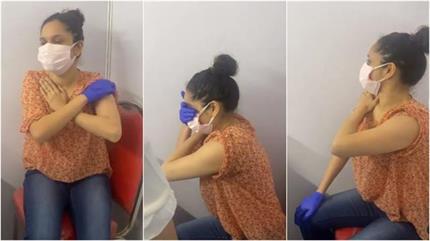 सुशांत की एक्स गर्लफ्रेंड अकिंता ने लगवाई कोरोना वैक्सीन, इंजेक्शन...