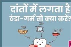 ठंडा-गर्म खाने से दांतों में होती है झनझनाहट तो क्या करें?