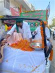 लखीमपुर खीरी में शहीद किसानों के अवशेषों को लेकर चंडीगढ़ में निकला शोक मार्च