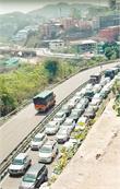 हिमाचल की एंट्री पर पहुंचे सैंकड़ों वाहन, जाम'