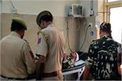 security vehicle and bus collision jawan killed 2 injured