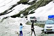 leh srinagar highway closed due to fresh snowfall