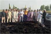 farmers removed government order smoke fired polluted fire