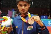allahabad dm bronze medal in badminton played in jakarta