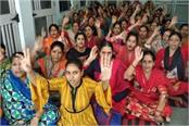 female health workers are on continous strike