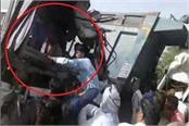 accident in gurguram rajsthan roadways and dumper in mandikhera