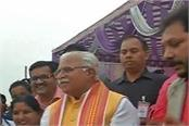cm khattar worshiped on the festival of maha chhath festival