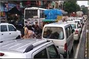 long jam in uttarakhand bhawali khairna route