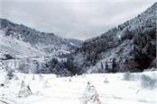 snowfall on hills of chamba