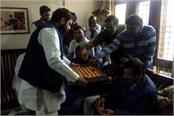 winning celebration at kaiptan ajay yadav house