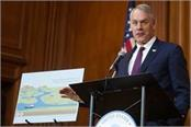 now the us interior minister will leave the trump administration