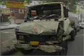 school van collided with auto in keshavpuram injured many children
