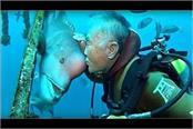 the face of this fish is like human beings for years this person s best friend