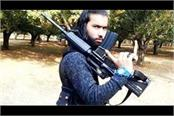 militant sameer tiger seen training youth