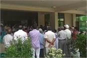 people suffering from drinking water crisis protested in huda office