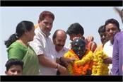subhash barala gives best wishes to hooda for jankranti rath yatra