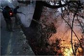 fire in the mountains of uttarakhand