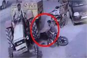 live incident uncontrolled tractor trolley captured in cctv