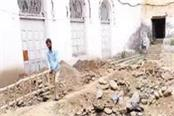 illegal construction works in the historic monolithic chandi palace