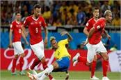 brazil and switzerland equalize 1 1