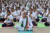 today will be celebrated throughout the world yoga day