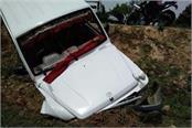 a tata sumo car turned turtled in daulatpur chowk