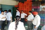 the team of health department raid