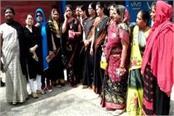 protest against amit shah jabalpur tour