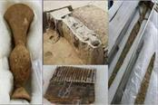 baghpat excavation mahabharata period body and chariot found