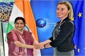 sushma swaraj meets eu representative