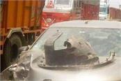 car truck collide