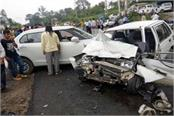 see in pictures tremendous collision in 2 cars 7 injured