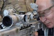 putin tests kalashnikov sniper rifle