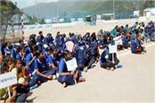 41th women handball championship started in badu sahib