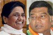elephant left hand in mp chhattisgarh mayawati to join congress coalition