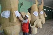 muslim devotees giving message of religious harmony in ramlila