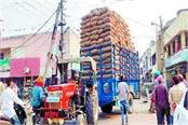 high voltage wires broken from overloaded tractor trolley accident averted