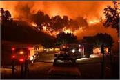 los angeles fire forces thousands to evacuate in northern california