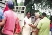 shiv sena leader prevents temple
